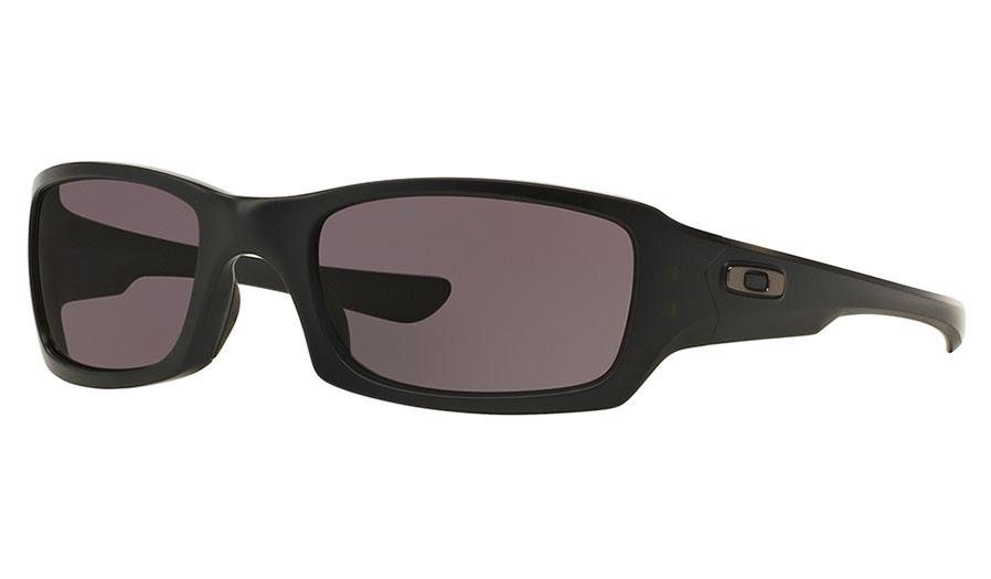 Oakley Fives Squared Sunglasses - Matte Black / Warm Grey