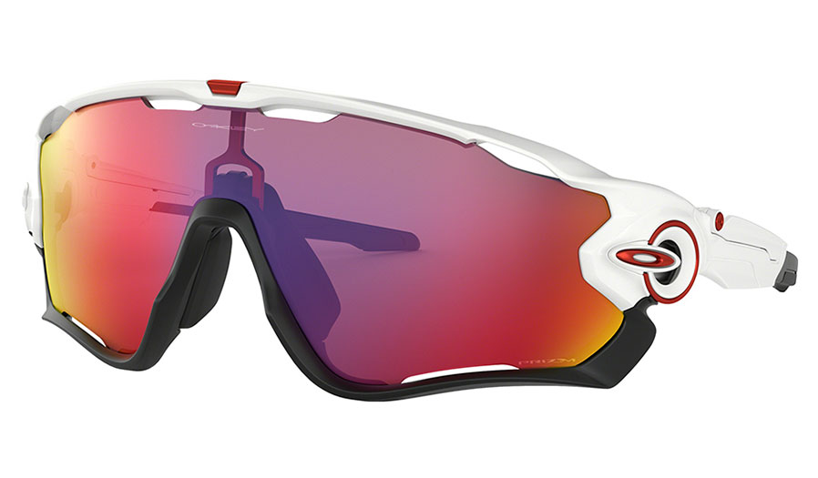 Oakley Jawbreaker Sunglasses - Polished White / Prizm Road