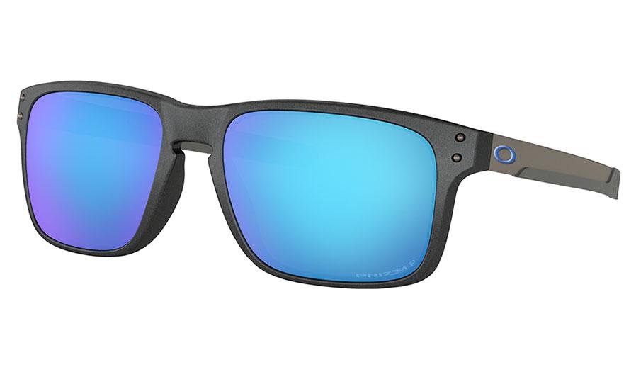 Oakley Holbrook Mix Sunglasses - Steel / Prizm Sapphire Polarised