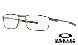Oakley Fuller Prescription Glasses - Pewter - Oakley Lenses