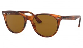 Ray-Ban RB2185 Wayfarer II Sunglasses - Striped Havana / Brown