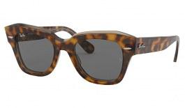 Ray-Ban RB2186 State Street Sunglasses - Havana on Transparent Light Brown / Dark Grey