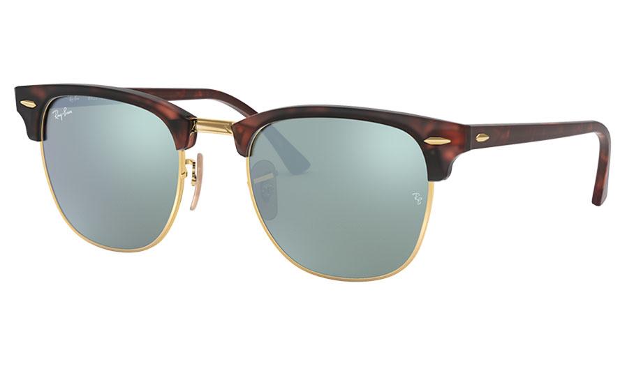 Ray-Ban RB3016 Clubmaster Sunglasses - Sand Havana / Silver Flash
