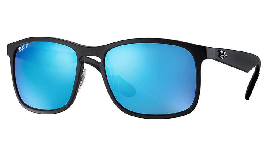 299cba8ab3b Ray-Ban RB4264 Sunglasses - Black   Blue Mirror Chromance Polarised -  RxSport
