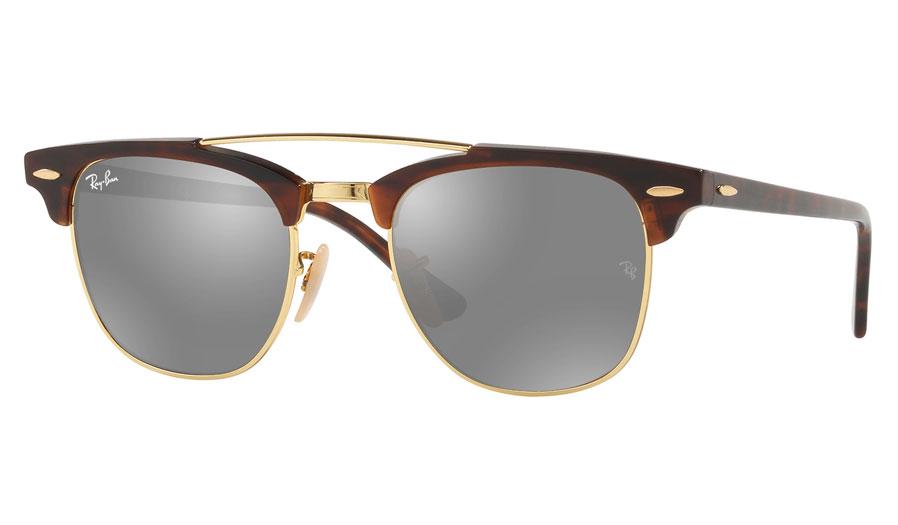 671ac5bbf8 Ray-Ban RB3816 Clubmaster Double Bridge Prescription Sunglasses - Tortoise    Gold - RxSport