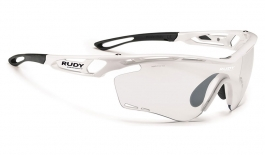 Rudy Project Tralyx Prescription Sunglasses - Clip-On Insert - White Gloss / ImpactX 2 Photochromic Black