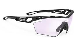 Rudy Project Tralyx Prescription Sunglasses - Clip-On Insert - Matte Black (Golf Edition) / ImpactX 2 Photochromic Laser Purple