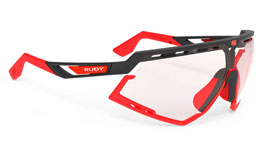 Rudy Project Defender Prescription Sunglasses - Matte Black & Fluo Red / ImpactX 2 Photochromic Red