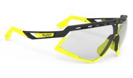 Rudy Project Defender Sunglasses - Matte Black & Fluo Yellow / ImpactX 2 Photochromic Laser Black