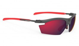 Rudy Project Rydon Prescription Sunglasses - Clip-On Insert - Carbon / Polar 3FX HDR Multilaser Red