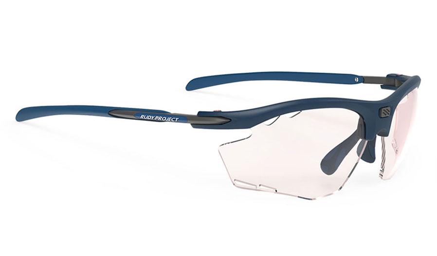 Rudy Project Rydon Prescription Sunglasses - Clip-On Insert - Matte Pacific Blue (Running Edition) / ImpactX 2 Photochromic Red