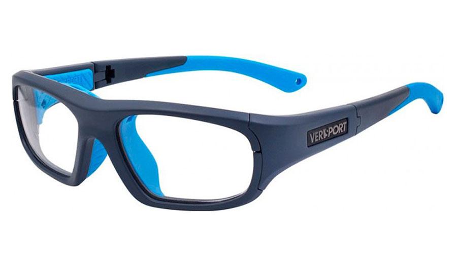 52a1c4d84d7 VerSport Zeus DTS Glasses - Matte Blue   Cyan   Clear - RxSport