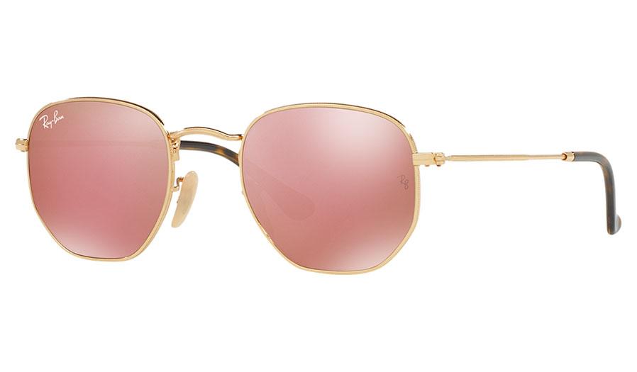 68377db38cd0 1. 2. 3. PrevNext. Ray-Ban RB3548N Hexagonal Flat Lens Sunglasses - Gold / Copper  Flash. Image Preview. Ray Ban