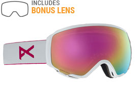 fad801f47504 Anon WM1 Ski Goggles - Pearl White   Sonar Pink + Sonar Infrared