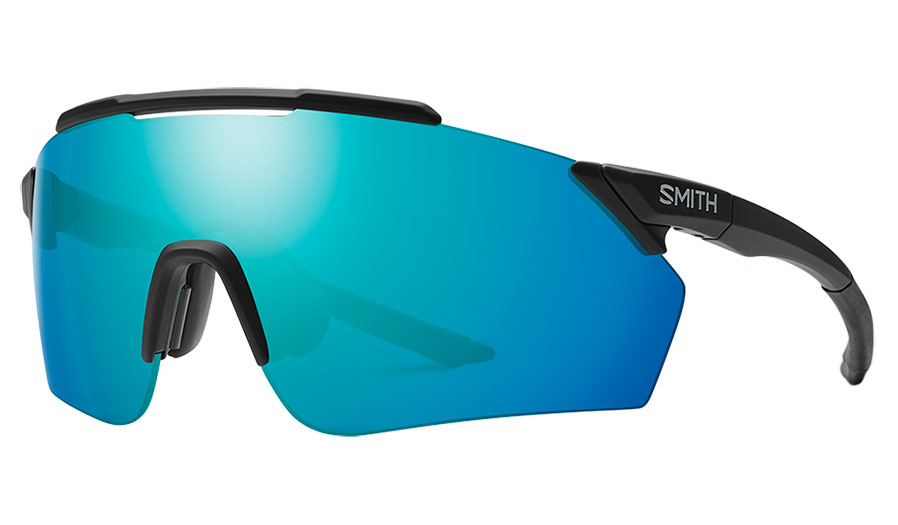 Smith Ruckus Prescription Sunglasses - ODS4 Insert - Matte Black / ChromaPop Opal Mirror + ChromaPop Contrast Rose