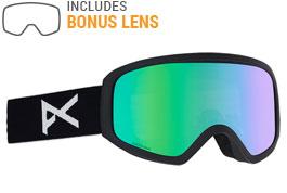 Anon Insight Ski Goggles - Black / Green Solex + Amber