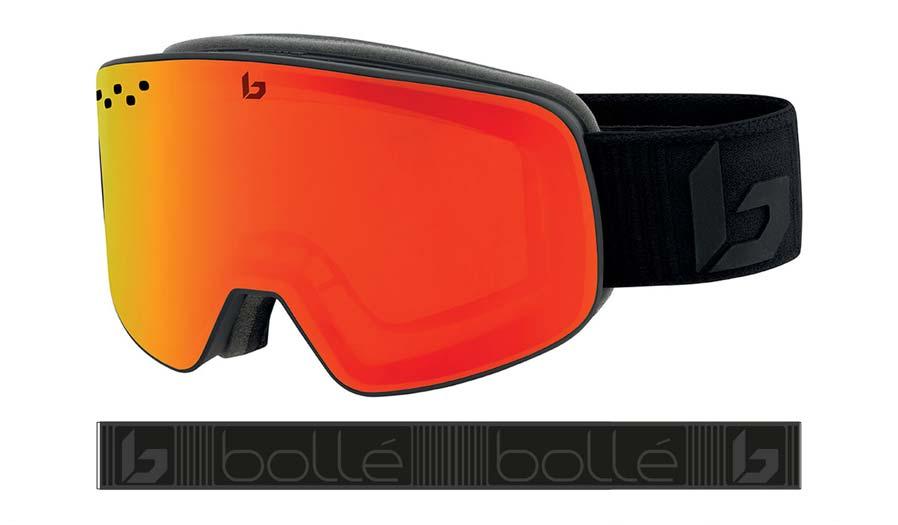 Bolle Nevada Ski Goggles - Matte Black Corp / Sunrise