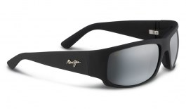 Maui Jim World Cup Sunglasses - Matte Black Rubber / Neutral Grey Polarised