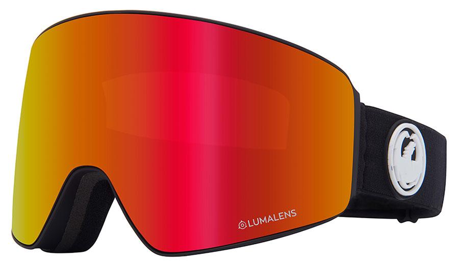 Dragon PXV Ski Goggles - Black / Lumalens Red Ion + Lumalens Rose