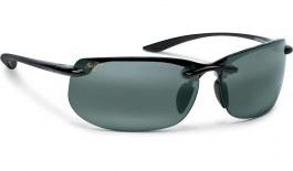 Maui Jim Banyans Sunglasses - Gloss Black / Neutral Grey Polarised