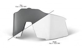 100% Speedcraft Replacement Lens Kit - Clear Smoke Photochromic