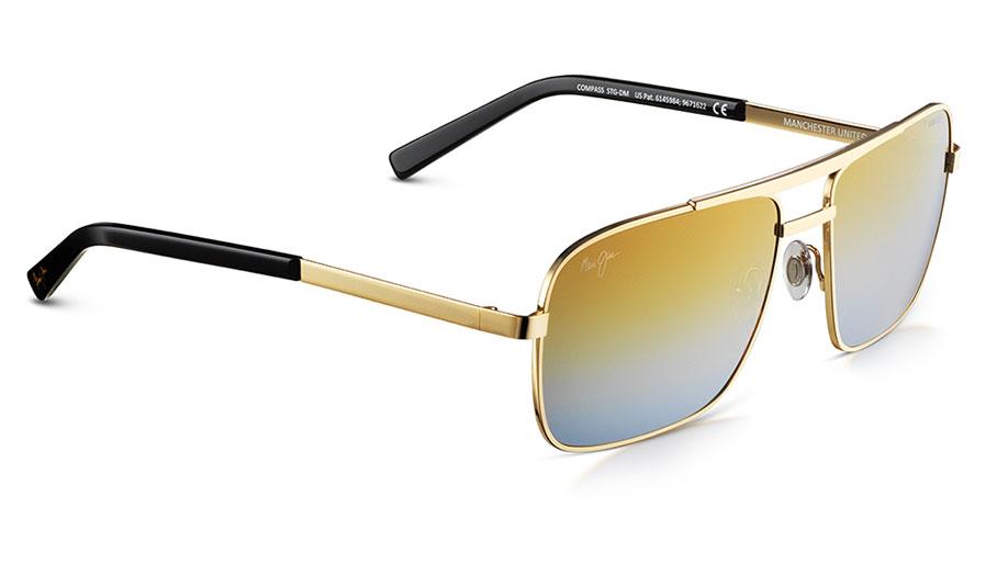 Maui Jim Compass Sunglasses - Gold / Dual Mirror Gold to Silver Polarised