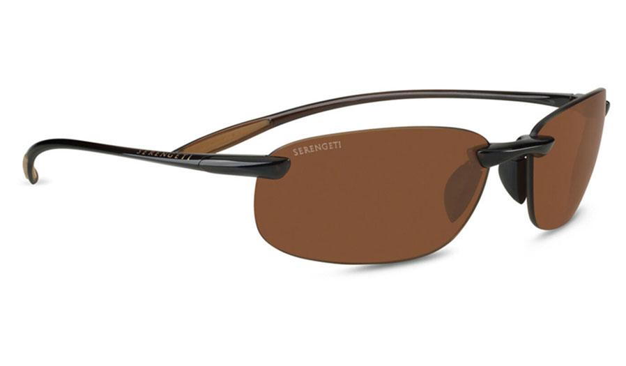 Serengeti Nuvola Sunglasses - Shiny Brown / Drivers Polarised Photochromic