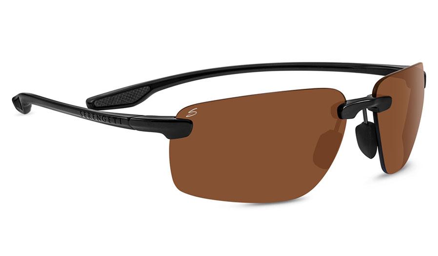 Serengeti Erice Sunglasses - Shiny Black / Drivers Polarised Photochromic