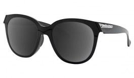 Oakley Low Key Prescription Sunglasses - Polished Black (Polished Chrome Icon)