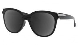 Oakley Low Key Prescription Sunglasses - Polished Black (Satin Silver Icon)