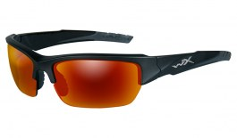 Wiley X Valor Sunglasses - Black Two Tone / Grey Crimson Mirror Polarised