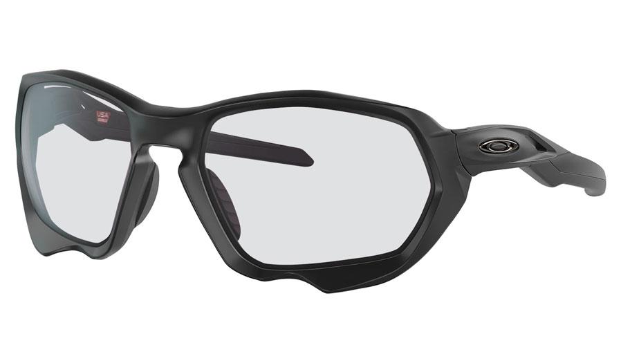 Oakley Plazma Prescription Sunglasses - Matte Black (Gunmetal Icon)