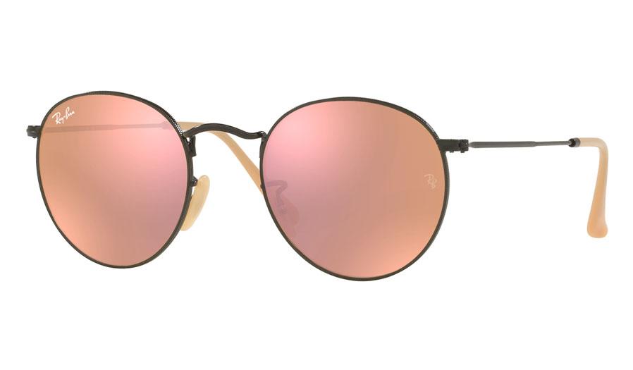 54398f77a8 Ray-Ban RB3447 Round Metal Prescription Sunglasses - Matte Black - RxSport