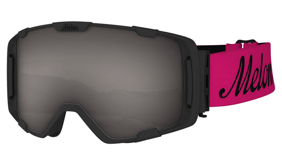 f462cd68b586 Melon Parker Ski Goggles - Matte Black   Pink with Black Logo Strap -  RxSport