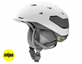 Smith Quantum MIPS Ski Helmet - Matte White Charcoal