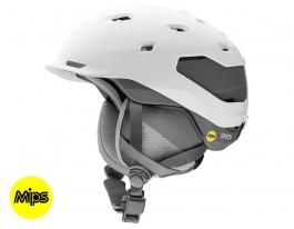 Smith Quantum MIPS Ski Helmet - Matte White Charcoal