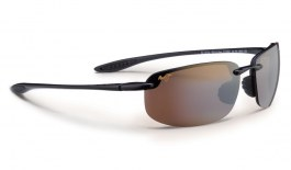 Maui Jim Ho'okipa Sunglasses - Gloss Black / HCL Bronze Polarised
