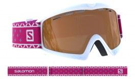 Salomon Kiwi Access Ski Goggles - White / Universal Tonic Orange