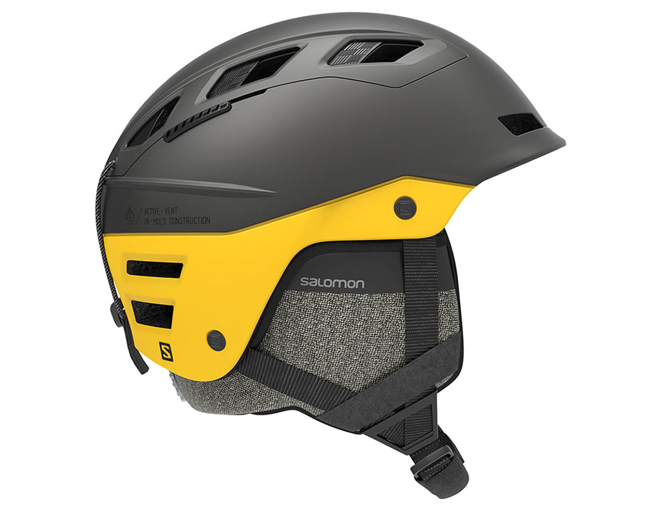 Salomon QST Charge Ski Helmet - Grey & Lemon Chrome