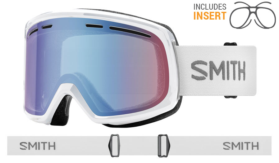 Smith Optics Range Prescription Ski Goggles - White / Blue Sensor Mirror