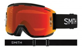 Smith Squad MTB Goggles - Black / ChromaPop Everyday Red Mirror + Clear