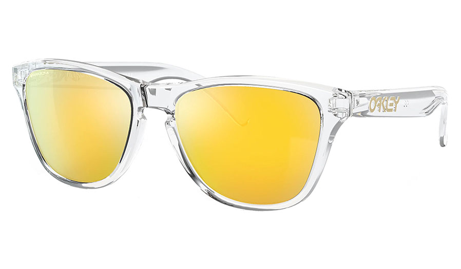 Oakley Frogskins XS Sunglasses - Polished Clear / Prizm 24K Polarised