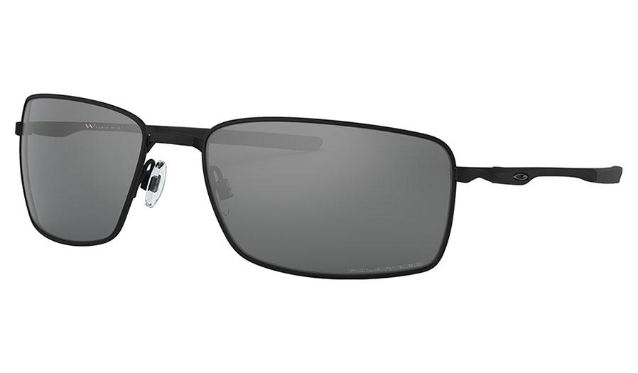 Oakley Square Wire Sunglasses - Matte Black / Black Iridium Polarised