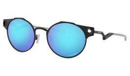 Oakley Deadbolt Sunglasses - Satin Light Steel / Prizm Sapphire
