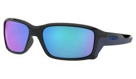 Oakley Straightlink Sunglasses - Polished Black / Sapphire Iridium