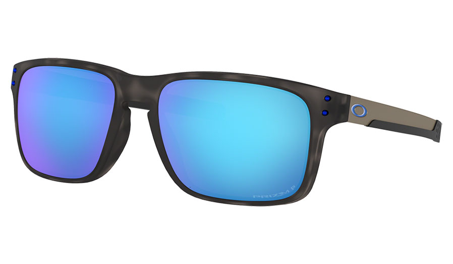 Oakley Holbrook Mix Sunglasses - Matte Black Tortoise / Prizm Sapphire Polarised