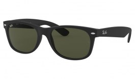 Ray-Ban RB2132 New Wayfarer Sunglasses - Matte Black / G-15 Green