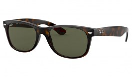Ray-Ban RB2132 New Wayfarer Sunglasses - Tortoise / Green Polarised