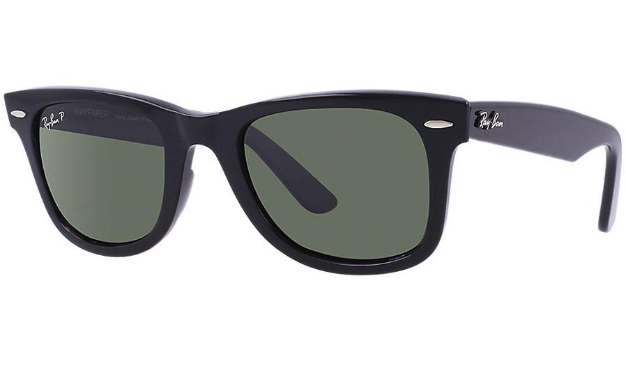f368c1a9690e Ray-Ban RB2140 Original Wayfarer Sunglasses - Black / Green ...
