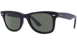 Ray-Ban RB2140 Original Wayfarer Sunglasses - Black / Green Polarised